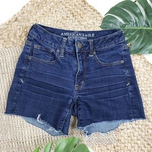 American Eagle   Superstretch Cut Off Jean Shorts